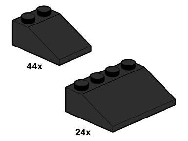 10054 Black Roof Tiles