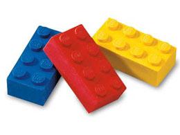 922213 Eraser, LEGO Brick Eraser Set