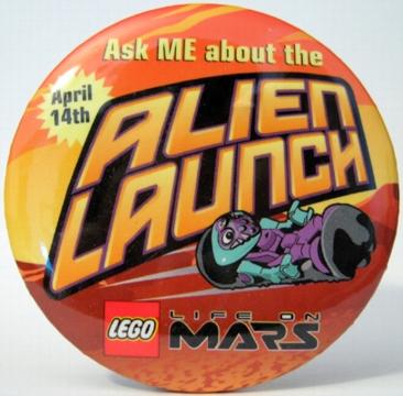 Pin38 Life on Mars Alien Launch
