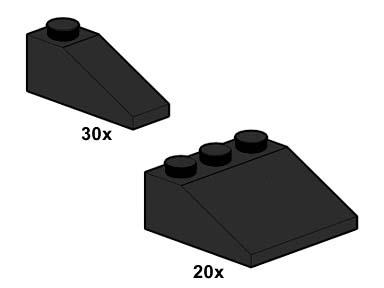10055 Black Roof Tiles