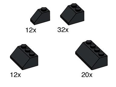 10161 Black Roof Tiles