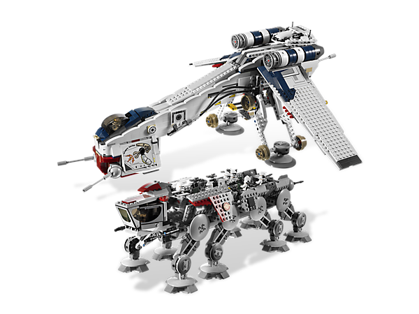 10195 Le Republic Dropship avec l'AT-OT Walker