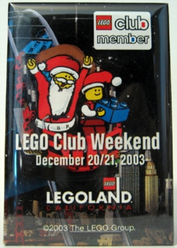 Pin35 LEGOLAND California Holiday 2003