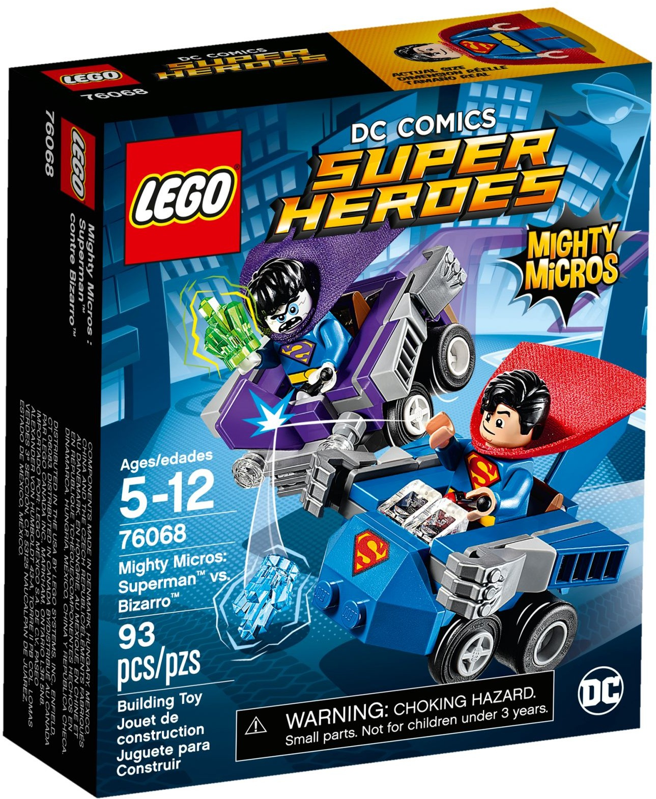 76068 Mighty Micros: Superman vs. Bizarro