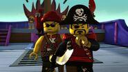 Pete l'aveugle et Capitaine Soto-Pirates contre ninjas