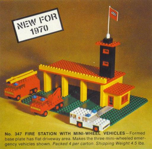 347 Fire Station with Mini Cars