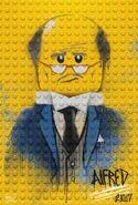 The LEGO Batman Movie Poster graffiti Alfred Pennyworth