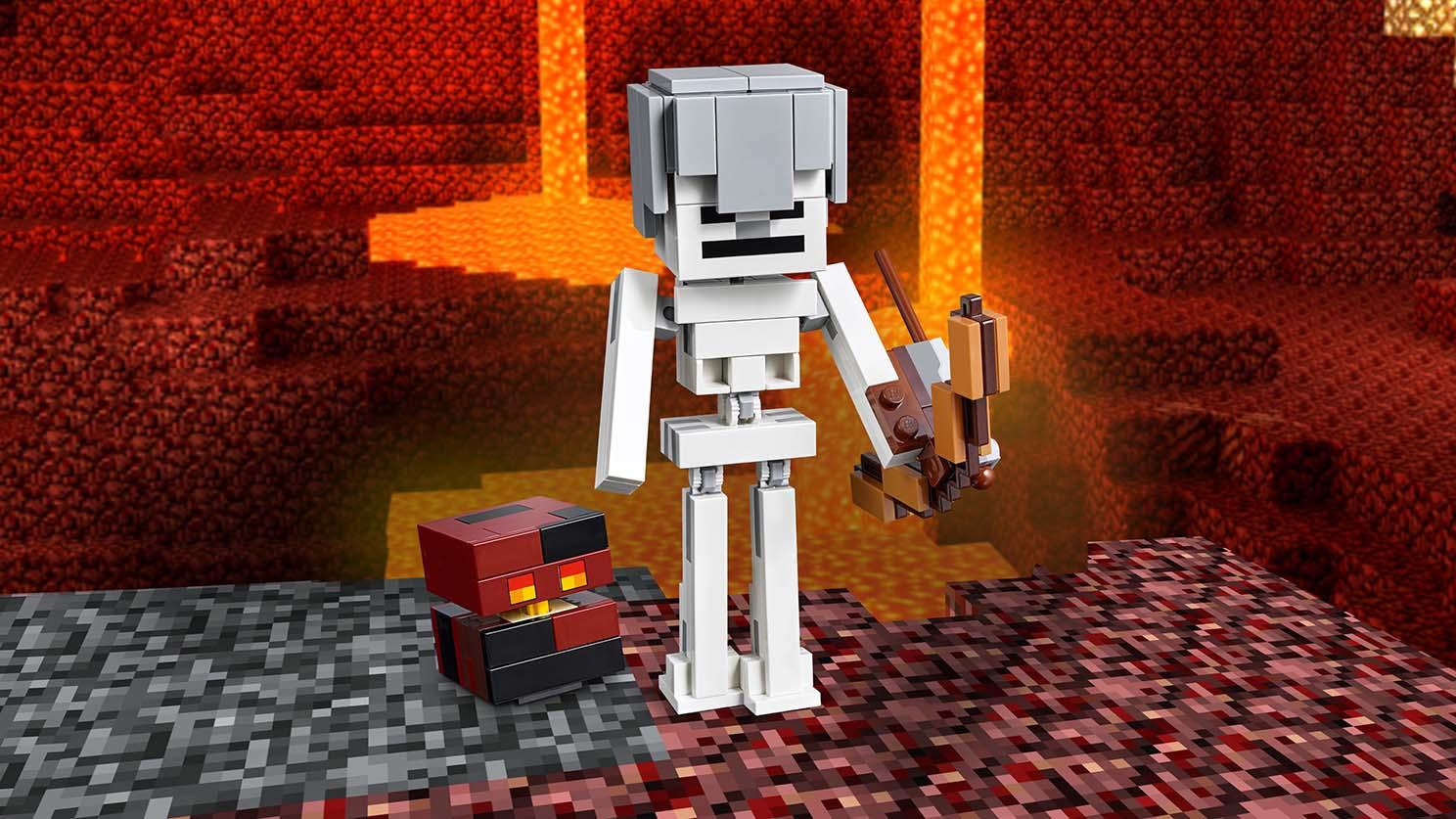 21150 Squelette avec un cube de magma