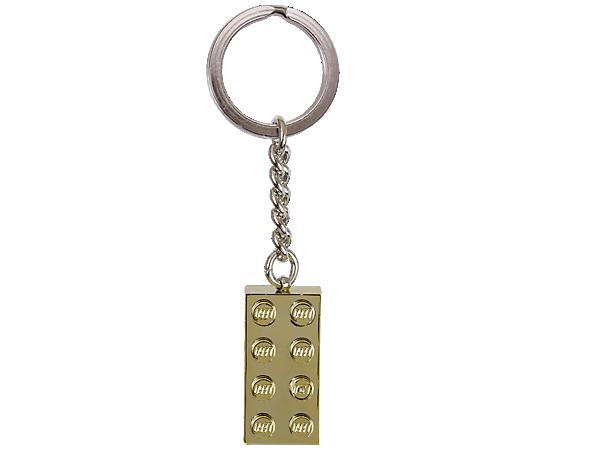 850808 Porte-clés Brique 2x4 dorée