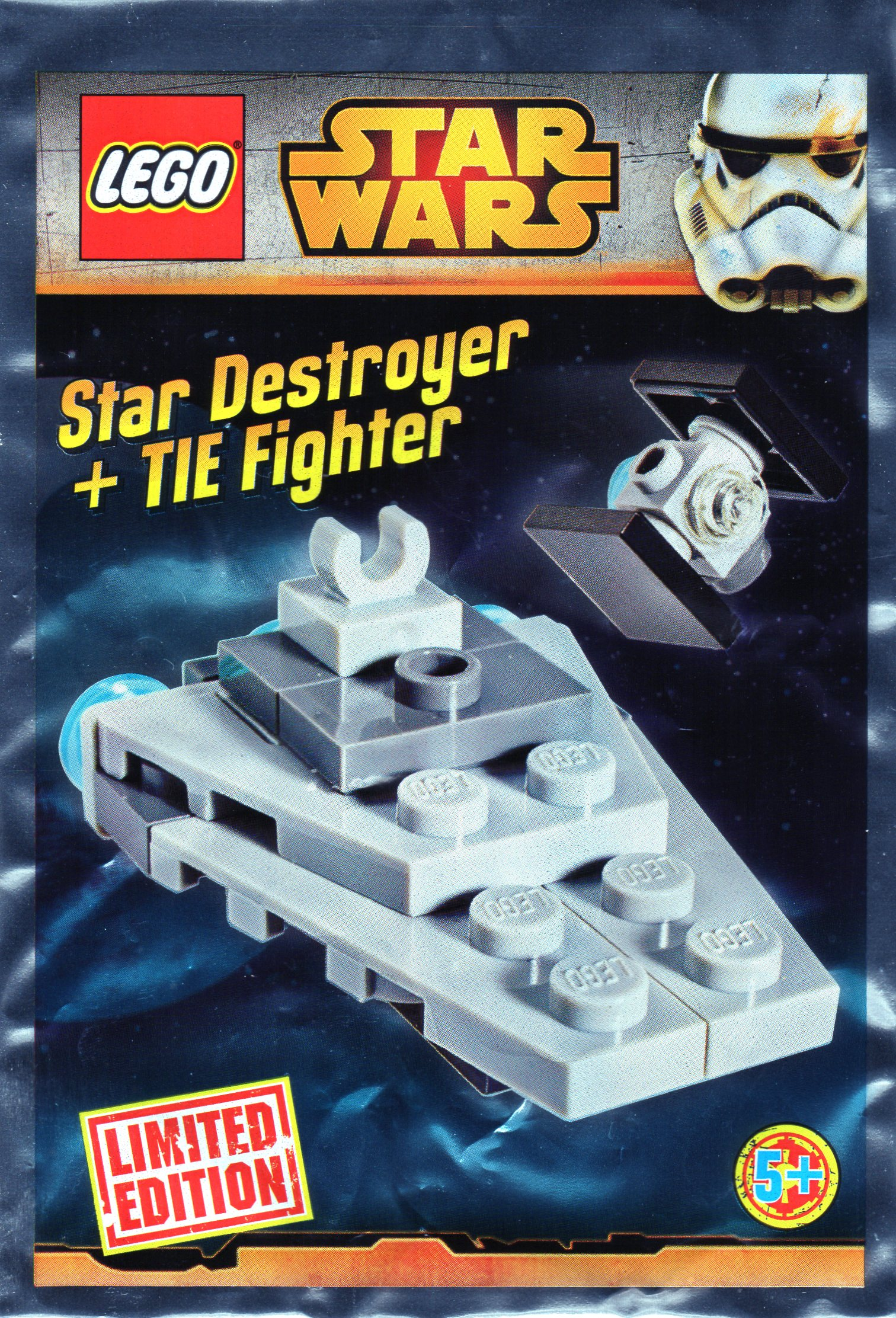 911510 Micro Star Destroyer and TIE Fighter