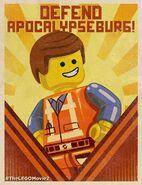 The LEGO Movie 2 Poster Defend Apocalypseburg!