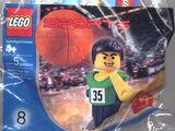 7918 Green Basketball Player