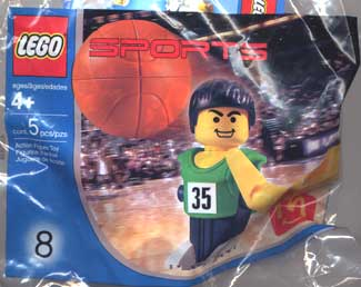 7918 Green Basketball Player