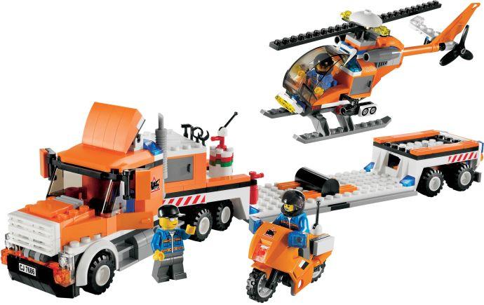 Transporter mit Hubschrauber 7686