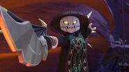Skull Sorcerer facing Cole