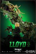 The LEGO Ninjago Movie Poster Lloyd Ign