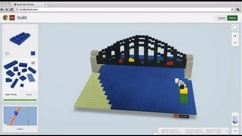 LEGO® Sydney Harbour Bridge created in Build with Chrome