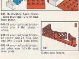 048 49 Assorted Basic Bricks Plus One Red 10 x 10 Stud Base Plate