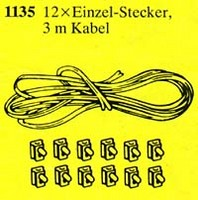 1135 Battery Cable Kit: 12 Connectors, 3m Cable