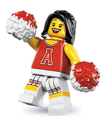 Rote Cheerleaderin