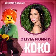 Vignette Ninjago Movie Olivia Munn