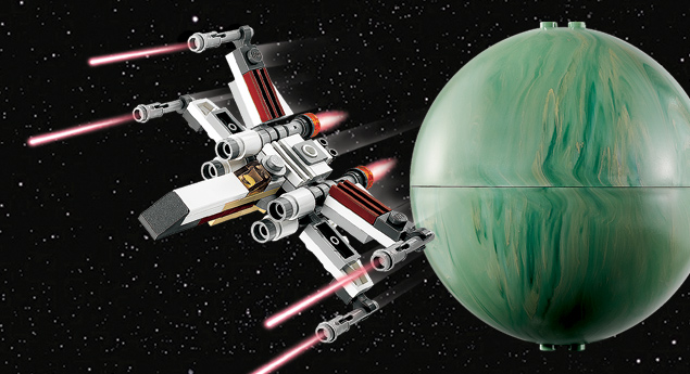 9677 X-wing Starfighter & Yavin 4