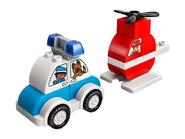 10957 L'hélicoptère de pompiers et la voiture de police