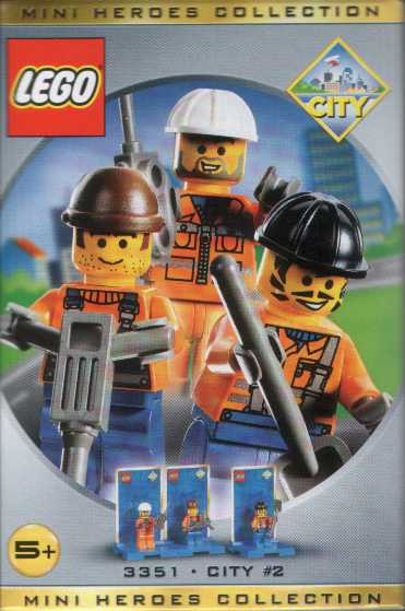 3351 Three Minifigure Pack - City 2