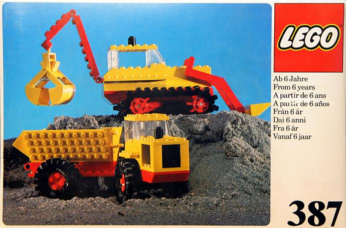 387 Excavator and Dumper
