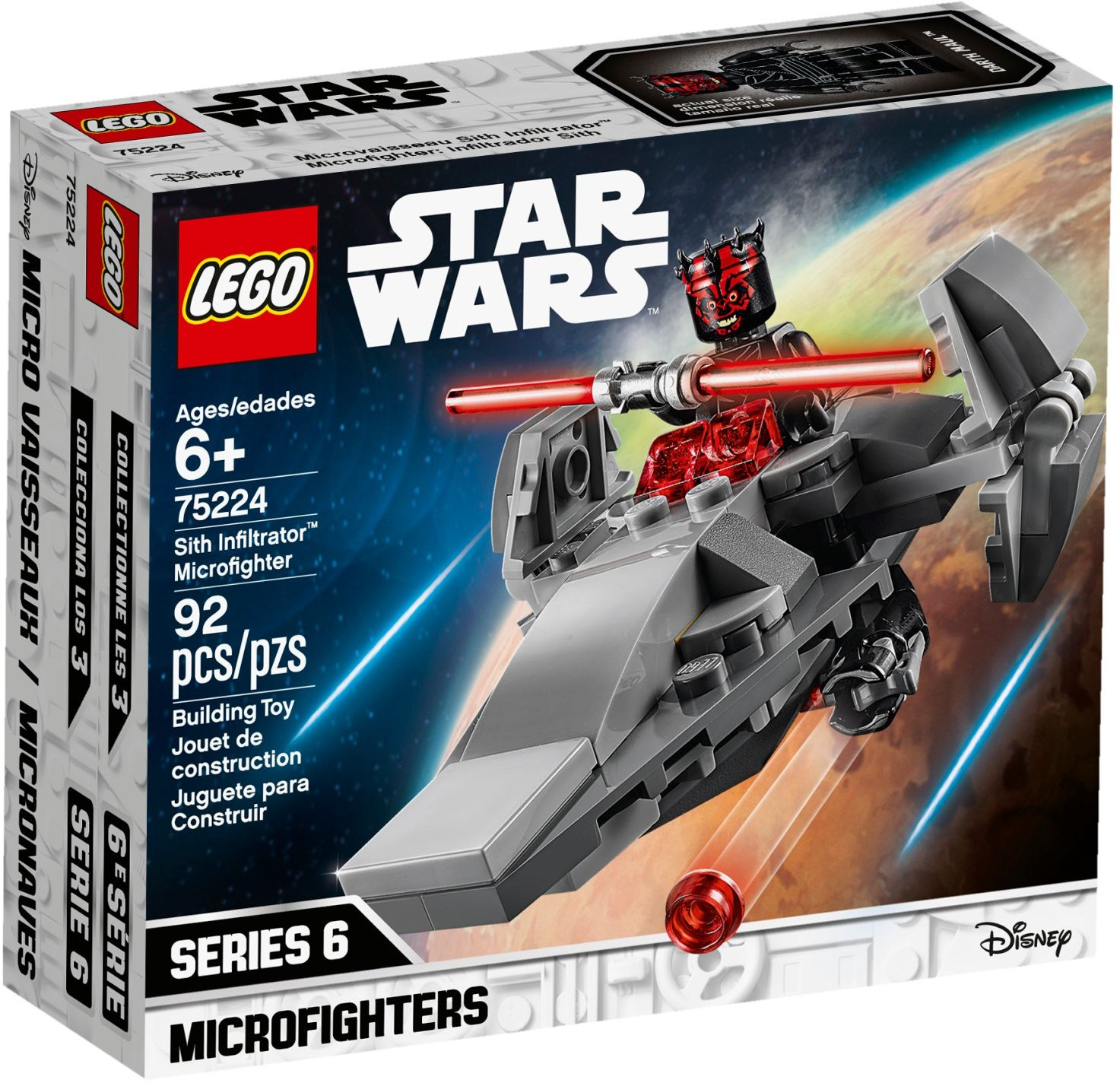 75224 Sith Infiltrator Microfighter
