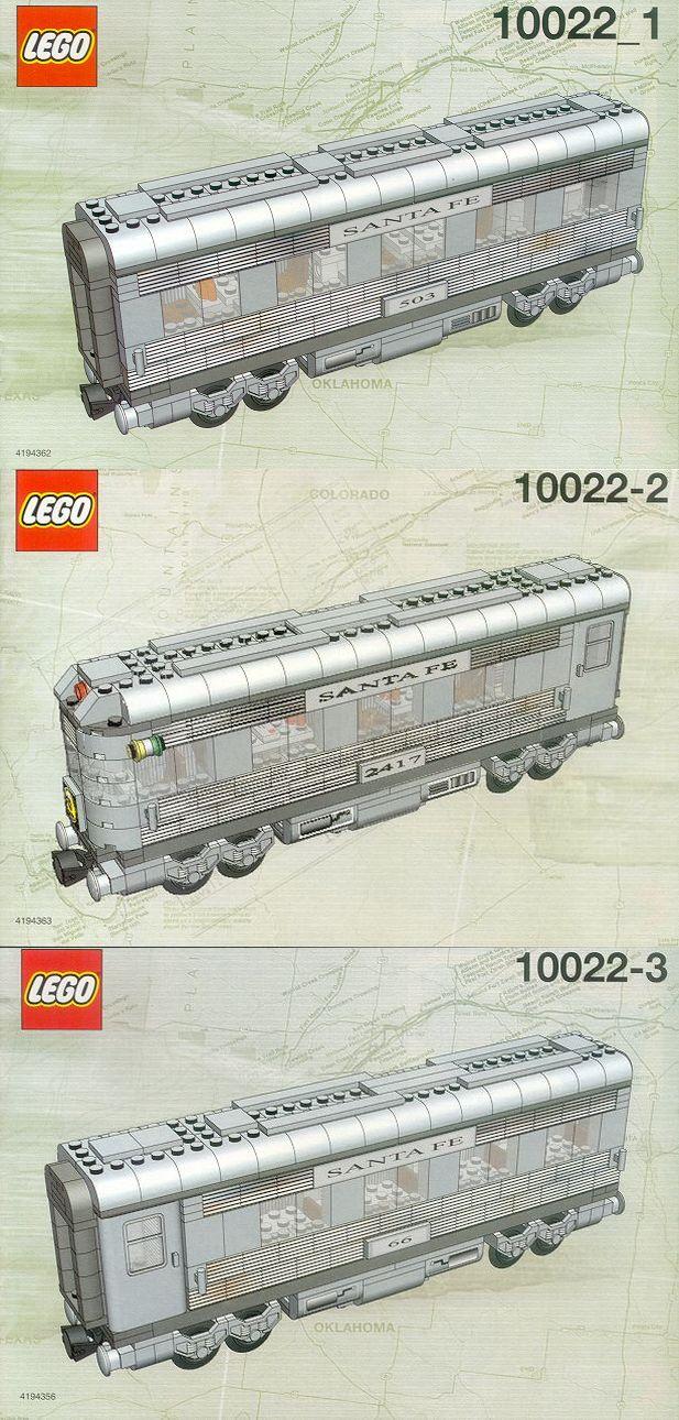 10022 Santa Fe Cars - Set II