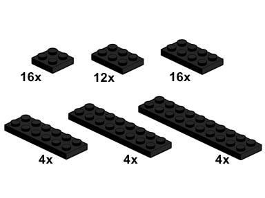 10057 Black Plates