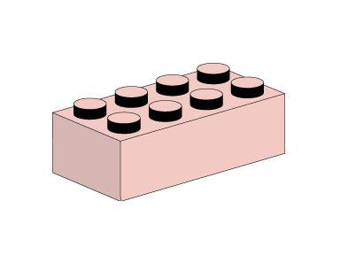 10005 2x4 Sand Red Bricks
