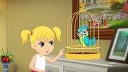 Stéphanie enfant et perroquet 2-Stéphanie et le perroquet