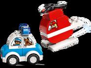 10957 L'hélicoptère de pompiers et la voiture de police 2