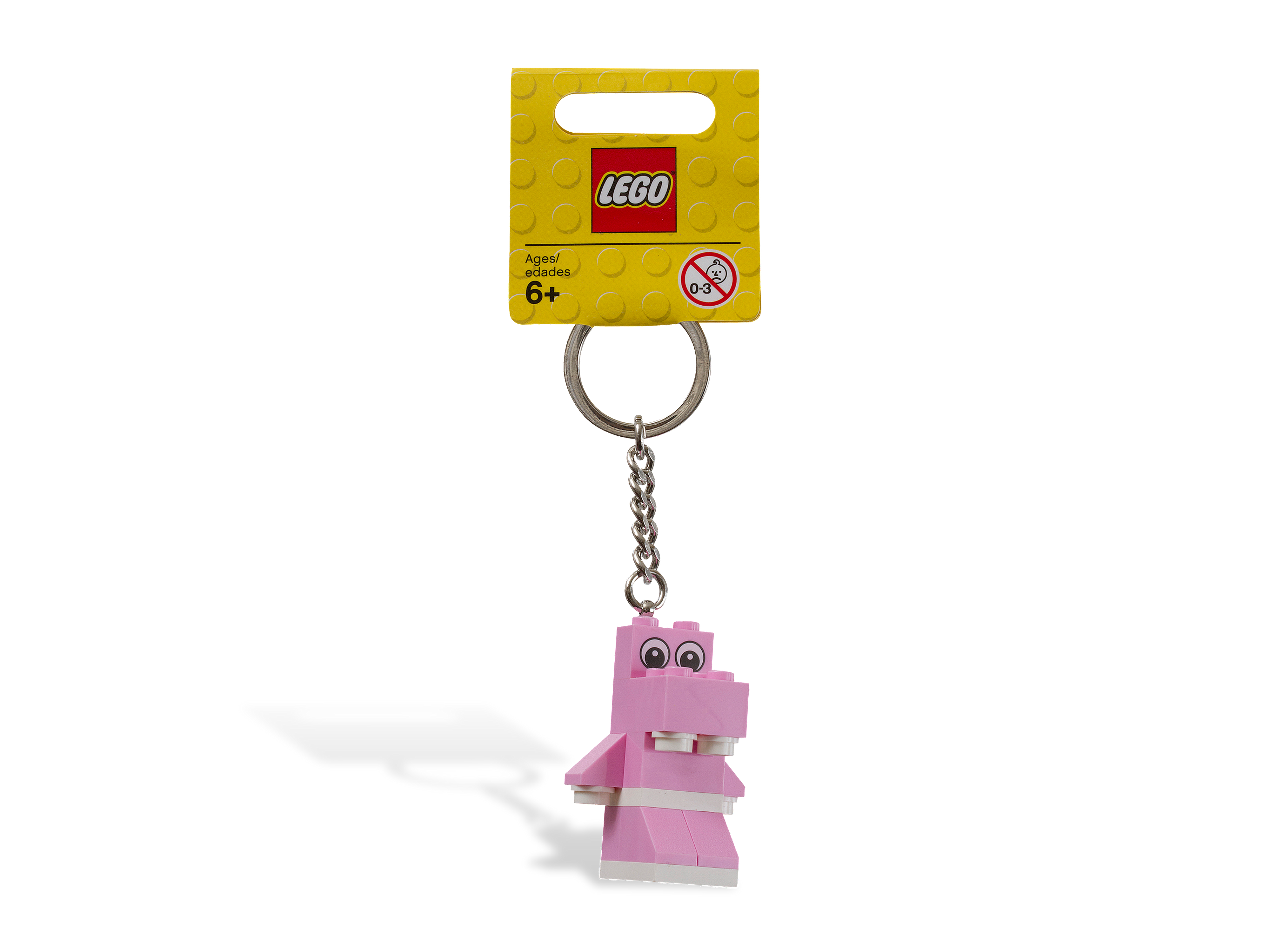 850416 Pink Hippo Key Chain