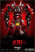 The LEGO Ninjago Movie Poster Kai Ign