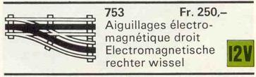 753 Automatic Right Electric Switch