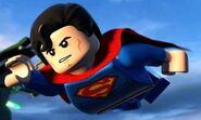 Super Man chasing