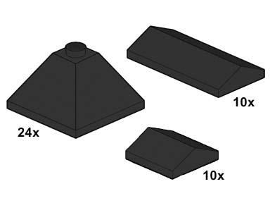 10053 Black Roof Tiles
