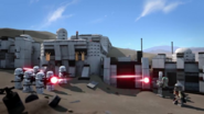 Mando and IG-11 faces Stormtroopers (Lego Star Wars special)