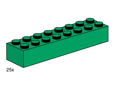 3466 2x8 Green Bricks