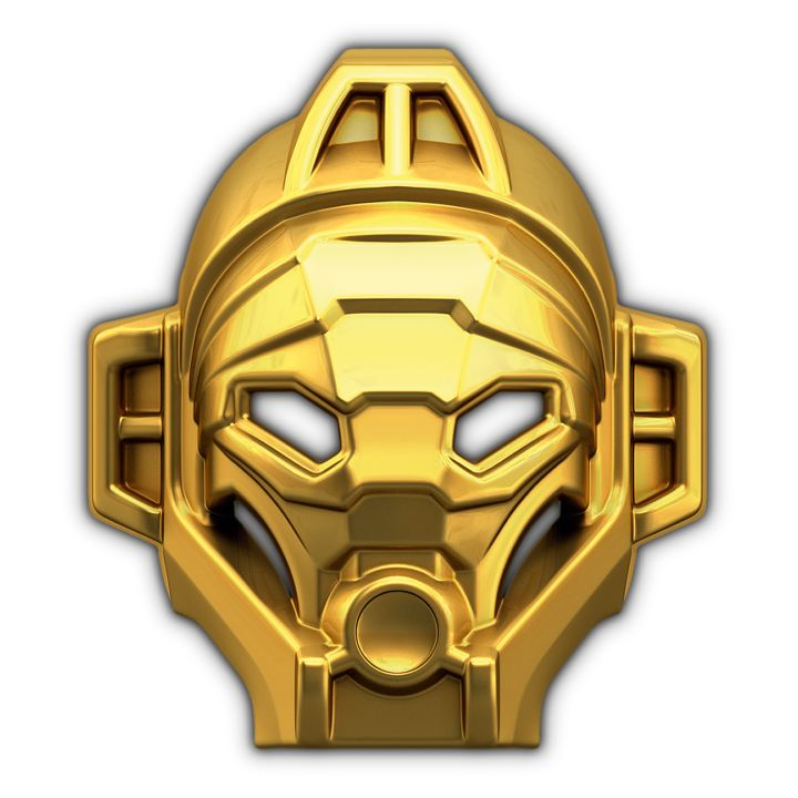 14k Gold Mask of Jungle