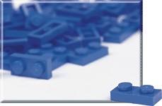 970009 1 x 2 Blue Plates