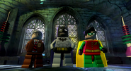 Comissioner gordan with batman and robin
