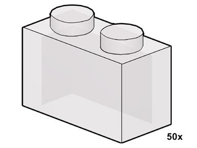 10051 1x2 Clear Bricks
