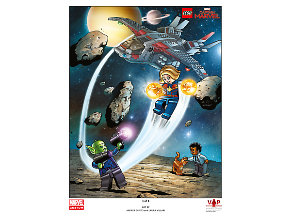 5005877 Tirage d'art LEGO Captain Marvel 1 sur 3