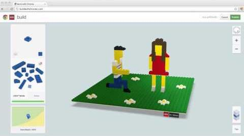Valentine's Day in LEGO® bricks at Build with Chrome