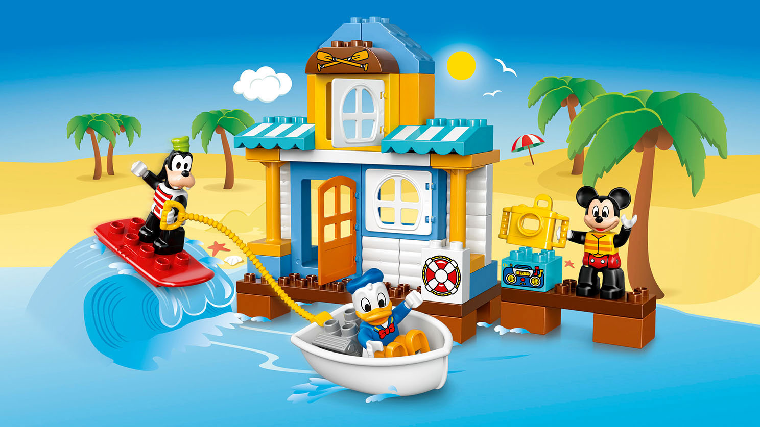 10827 La maison à la plage de Mickey et ses amis