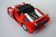 Roter Sportwagen 5867 Rückansicht